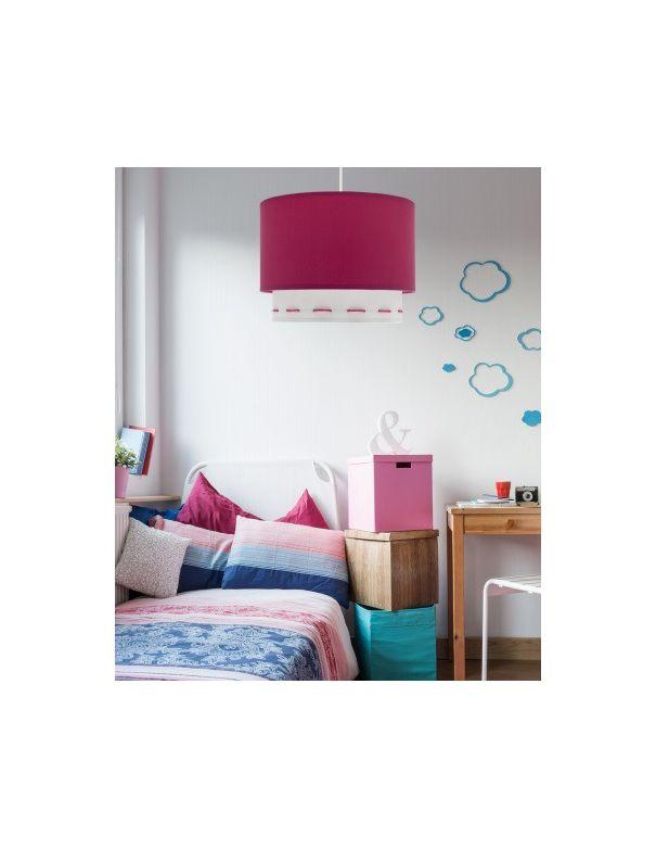 L mpara infantil colgante rosa y blanca ofertas env o - Lampara de techo para dormitorio ...