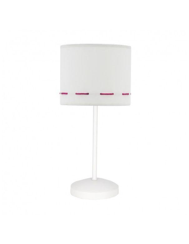 Lámpara infantil rosa y blanca