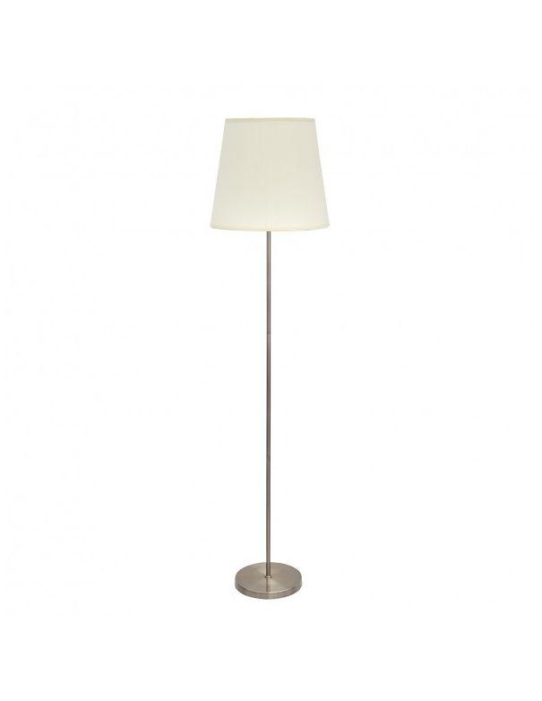 lampara de pie de metal dorado