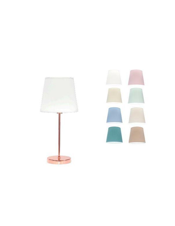 lampara color oro rosa