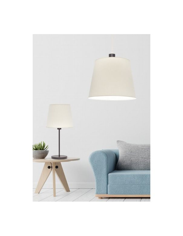 pantalla lampara beige