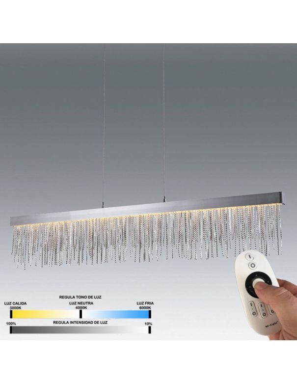 lámpara comedor con mando a distancia