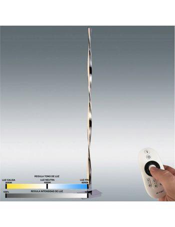 lampara de pie led con mando a distancia y regulable en intensidad