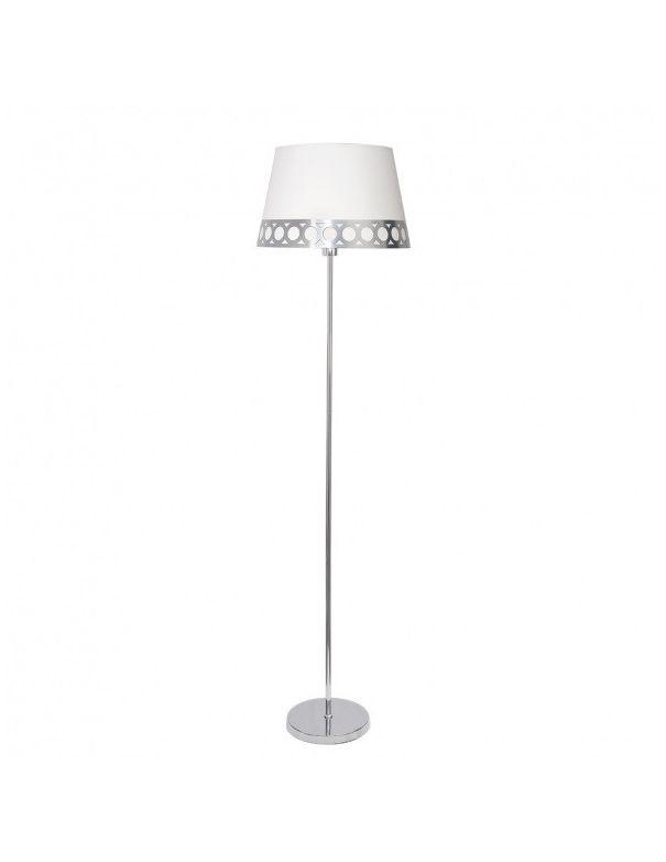 Lámpara de Pie Blanco y Plata
