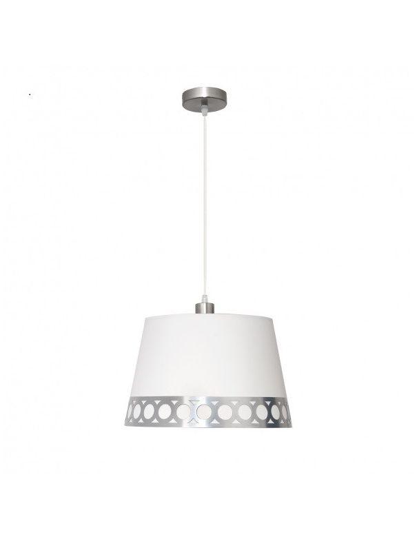 Lámpara Colgante Blanco y Plata