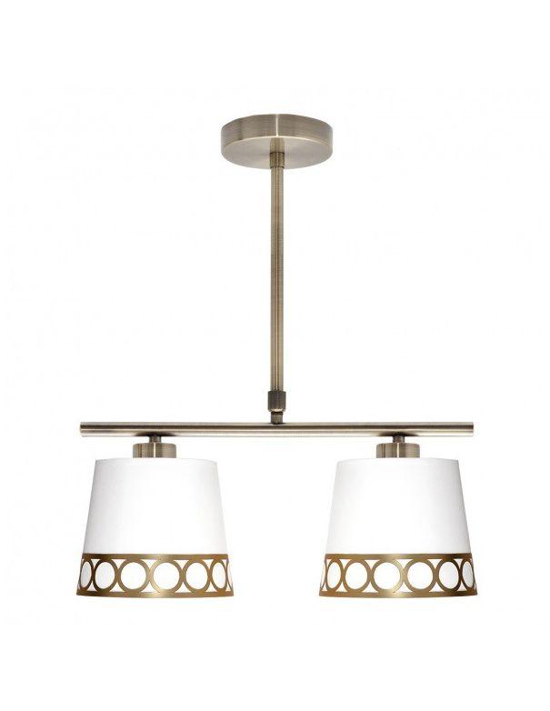 Lámpara Lineal Blanco y Oro