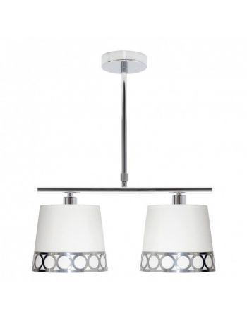 Lámpara Lineal Blanco y Plata