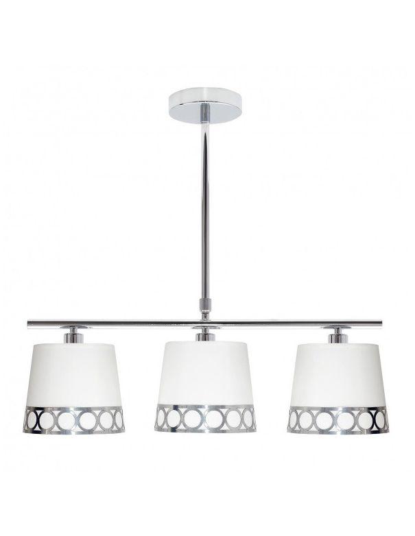 Lámpara Comedor Blanco y Plata