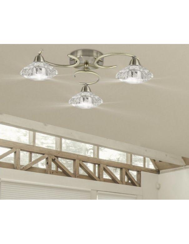 Outlet plafones de techo 3 luces