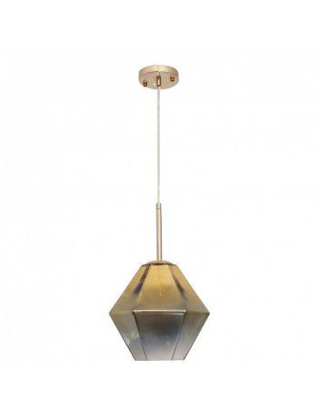Lámpara Cristal Ahumado Dorado