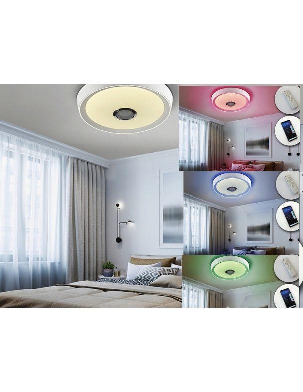 Plafón Jazz Altavoz Dimable RGB con Mando