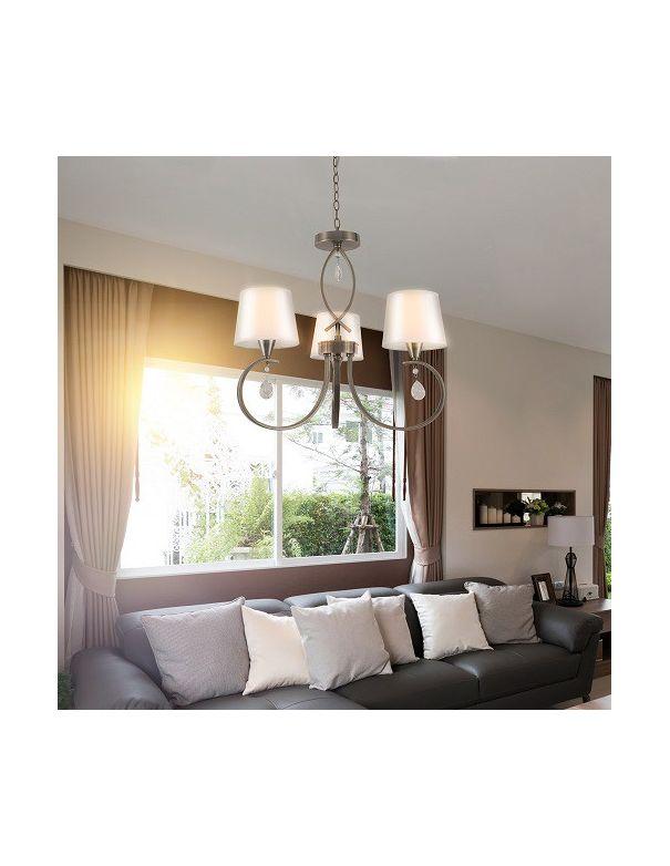 Lámpara Dormitorio Dorada con Pantallas Barata