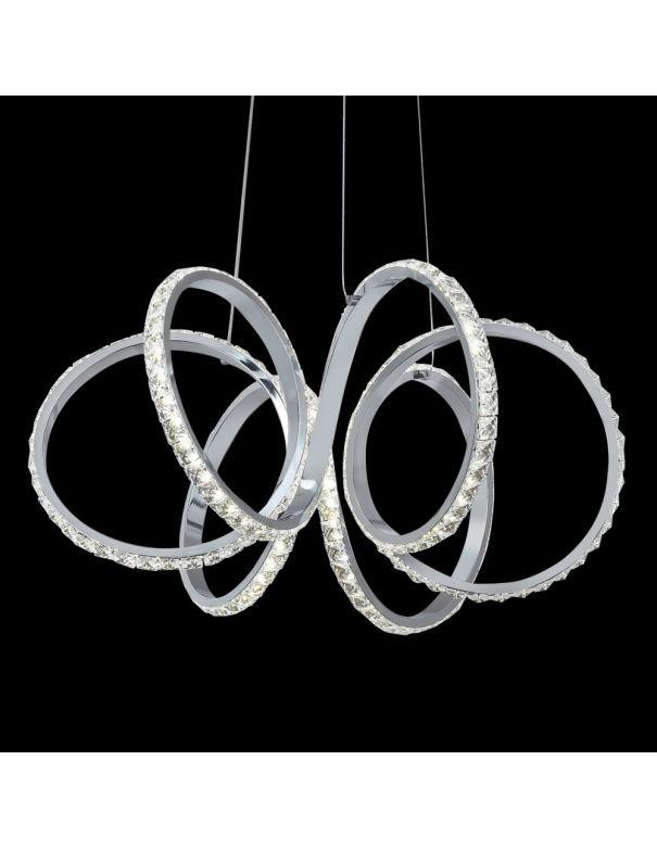 Lámpara Led de Metal y Cristal de Techo