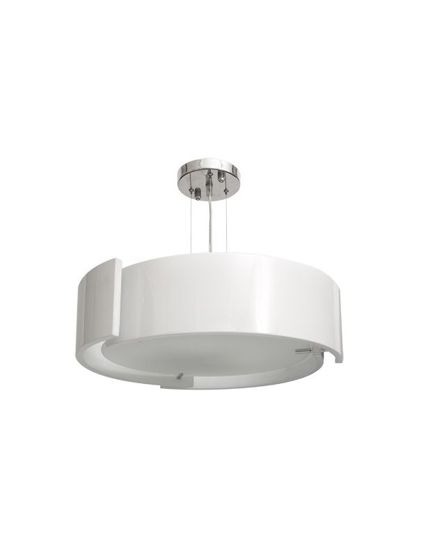 Lámpara de Colgar Redonda Blanca