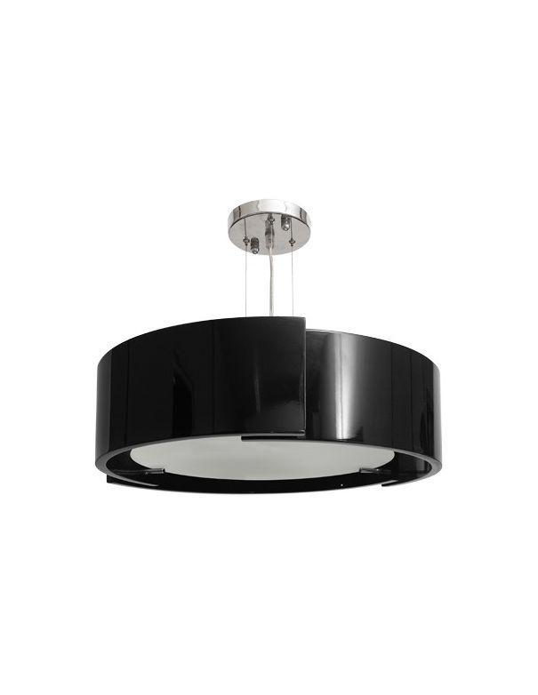 Lámpara de Colgar Redonda Negra