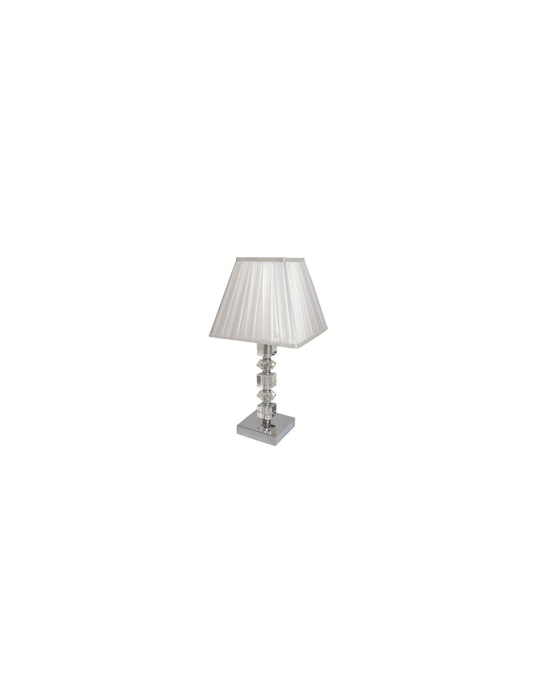 lmpara de mesa de noche pantalla cuadrada - Lamparas Mesita Noche