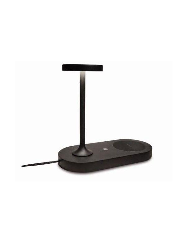 Lámpara de Mesa Ceres Negro con Cargador Wireless