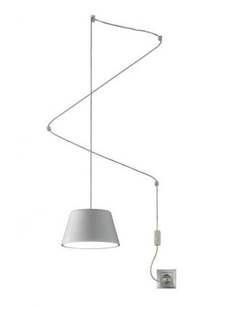 Lámpara Sento 22 cm con Enchufe Interruptor y 4 Stoppers Blanco o Negro
