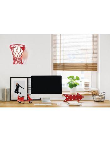Aplique de Pared Basketball Mantra Rojo