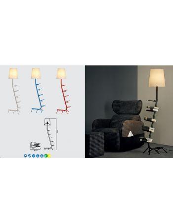 Lámpara de Pie Centipede Blanco, Negro, Rojo y Azul Mantra