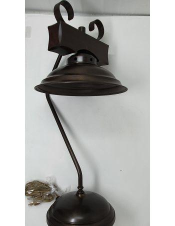 Lámpara Rústica Madera y Metal