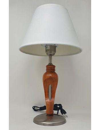 Lámpara de Mesa Níquel Miel con Pantalla