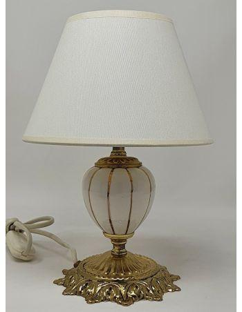 Lámpara de Mesa Clásica Oro Cerámica
