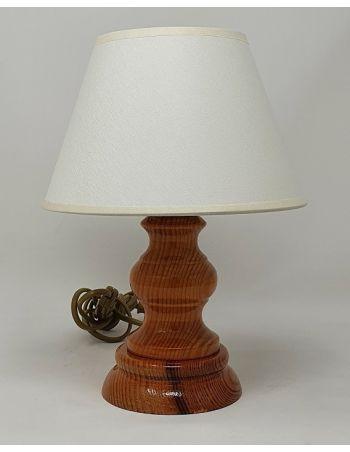 Lámpara de Mesa Miel con Pantalla de Tela