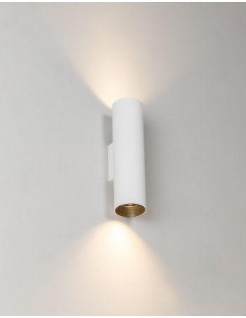 Aplique 2 Luces de Aluminio Blanco