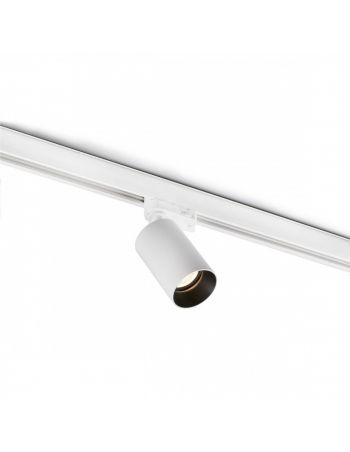 Proyector de Carril GU10 de Aluminio Blanco