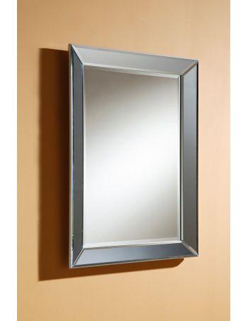 Pin en madera y dm acabado negro preparados para colgarse for Espejo marco cristal