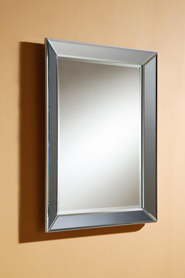 Espejo marco plateado los with espejo marco plateado for Espejos para pared grandes sin marco