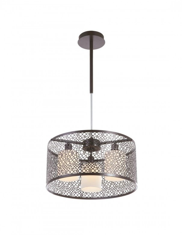 Lámpara Circle marrón de Sulion con 3 luces