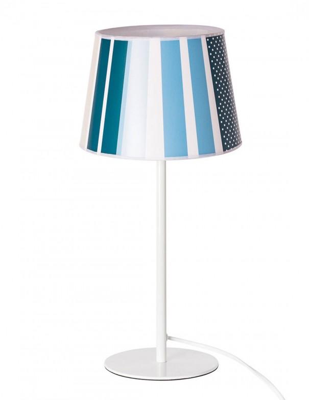 Lámpara de mesita de noche con tonos azules degradados