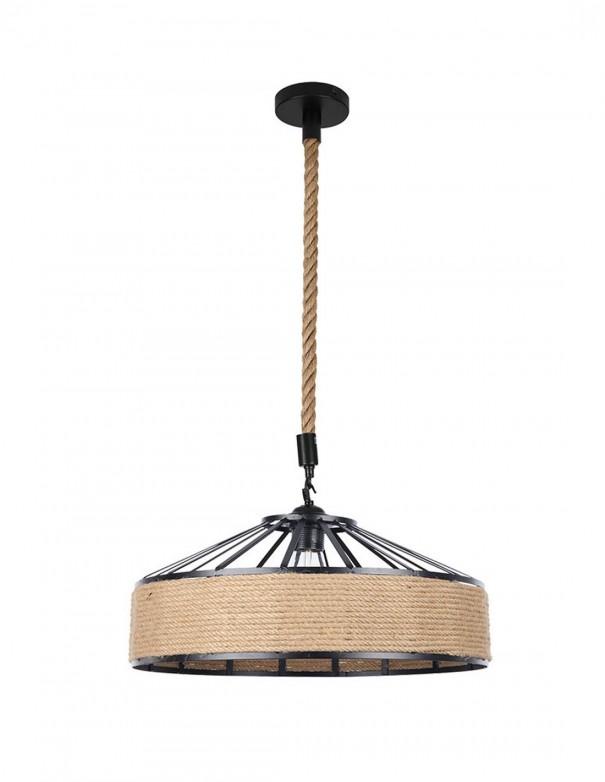Lámparas colgantes negras con cuerda