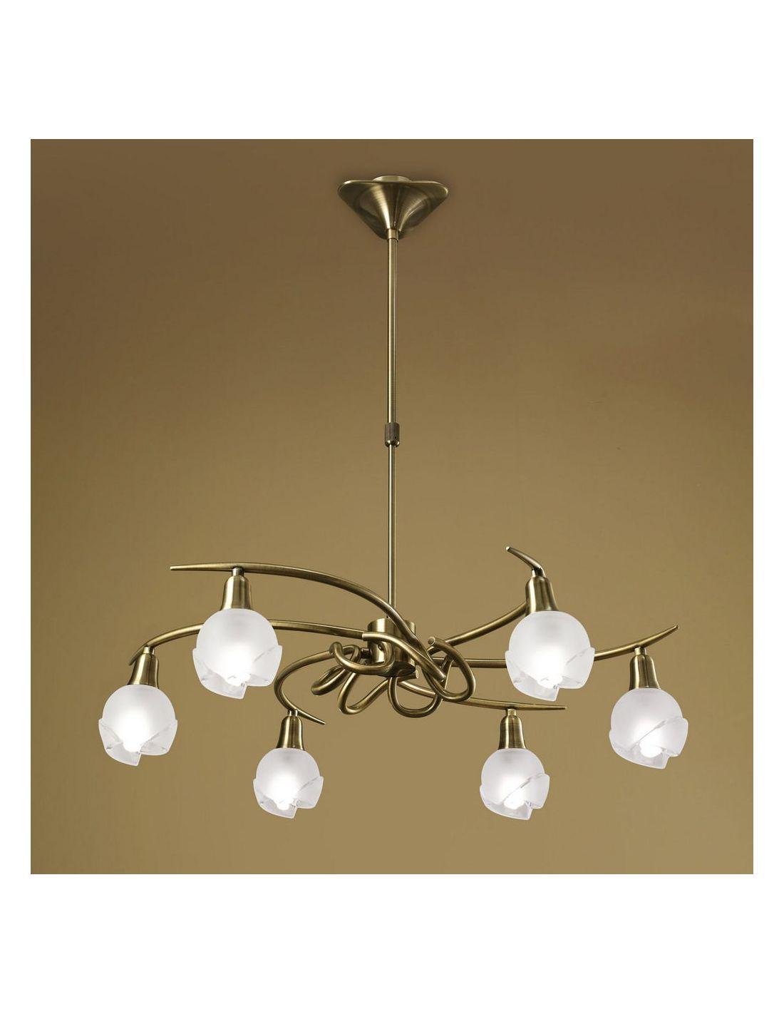 Bali l mpara de 6 luces de mantra iluminaci n env o gratis - Lamparas en dos hermanas ...