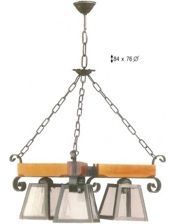 Lámpara 3 luces GÓTICO
