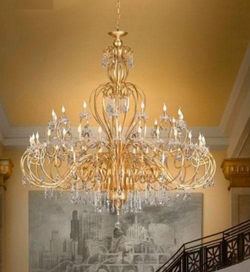 lámpara gran formato de bronce
