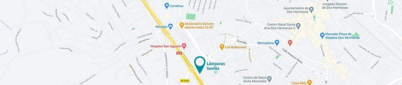 Situación tienda Lámparas Sevilla